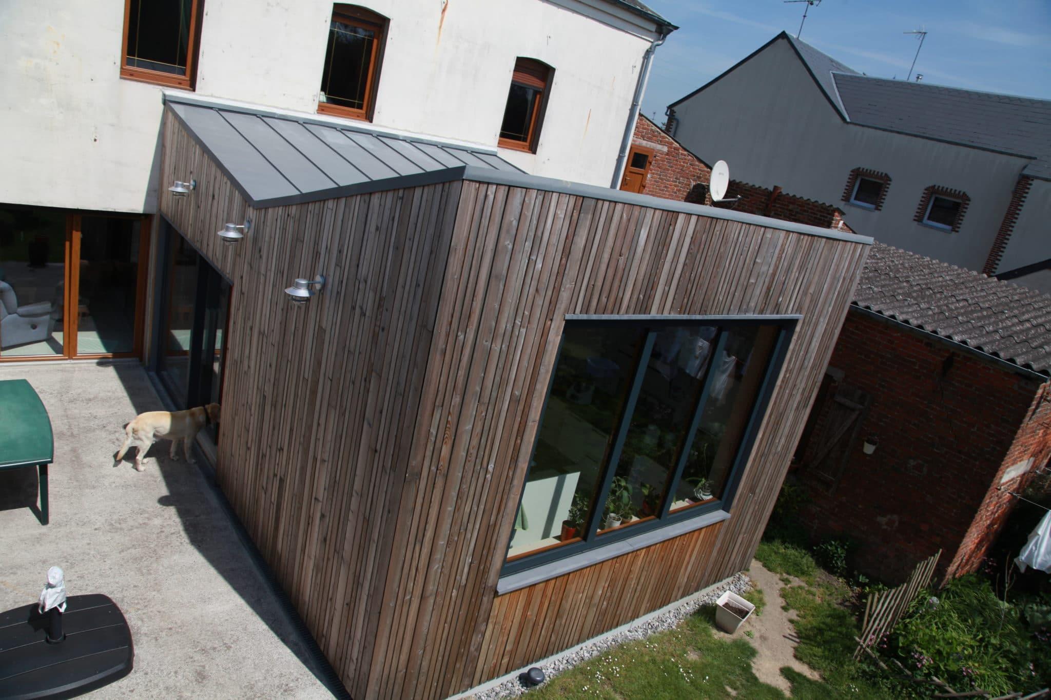 Toiture zinc pr patin reciproque construction bois for Construction bois zinc