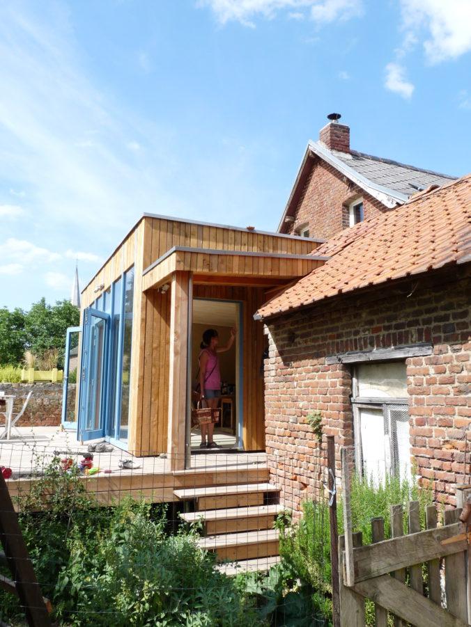 Descente de terrasse et raccord de toiture