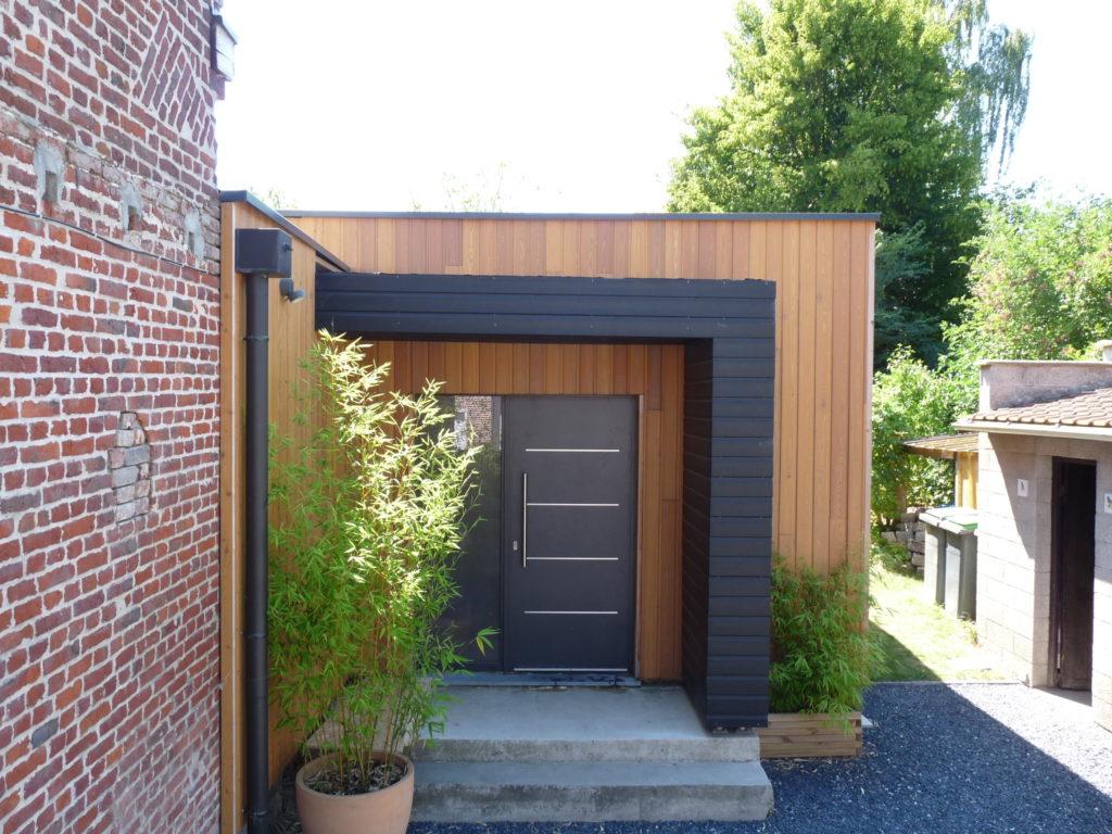 porche d 39 entr e reciproque construction bois. Black Bedroom Furniture Sets. Home Design Ideas
